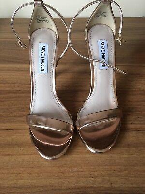 damenschuhe sandalen Steve Madden Gr.37         Roségold Farbe Neue.