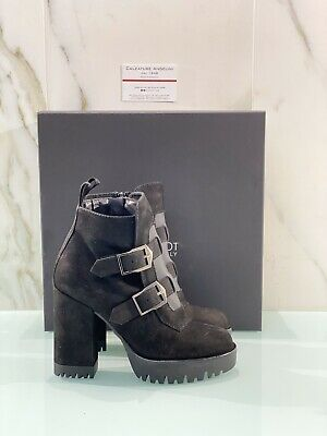 Jeannot Peber Black Boots Woman with Heel Made in Italy 38