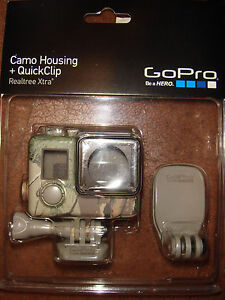 GoPro-Camo-Housing-QuickClip-Realtree-Xtra-for-GoPro-HERO4-3-3-Brand-New