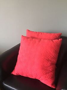 Large coral color pillows. 2 for $5