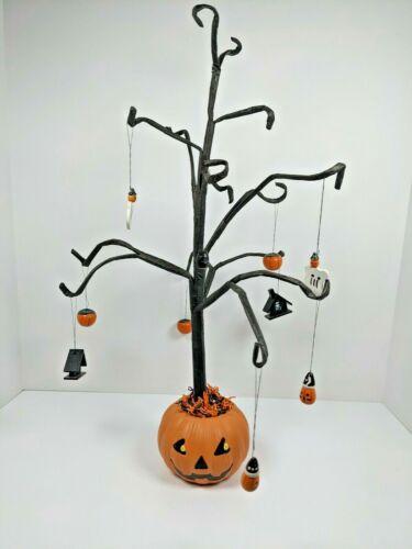 Halloween  Pumpkin Mini Ornament Tree w/10 Assorted Ornaments Japanese Kawaii