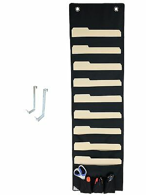 COMPONO Premium Hanging File Folder Organizer Pocket Chart with 9 Large Pockets
