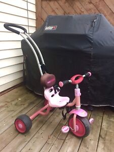 Pink trike with handle
