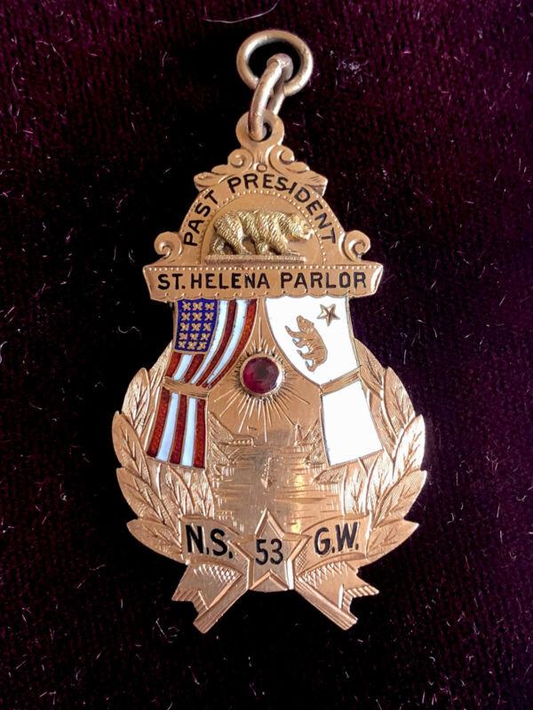 Antique Gold And Enamel Masonic Pendant, Circa 1900