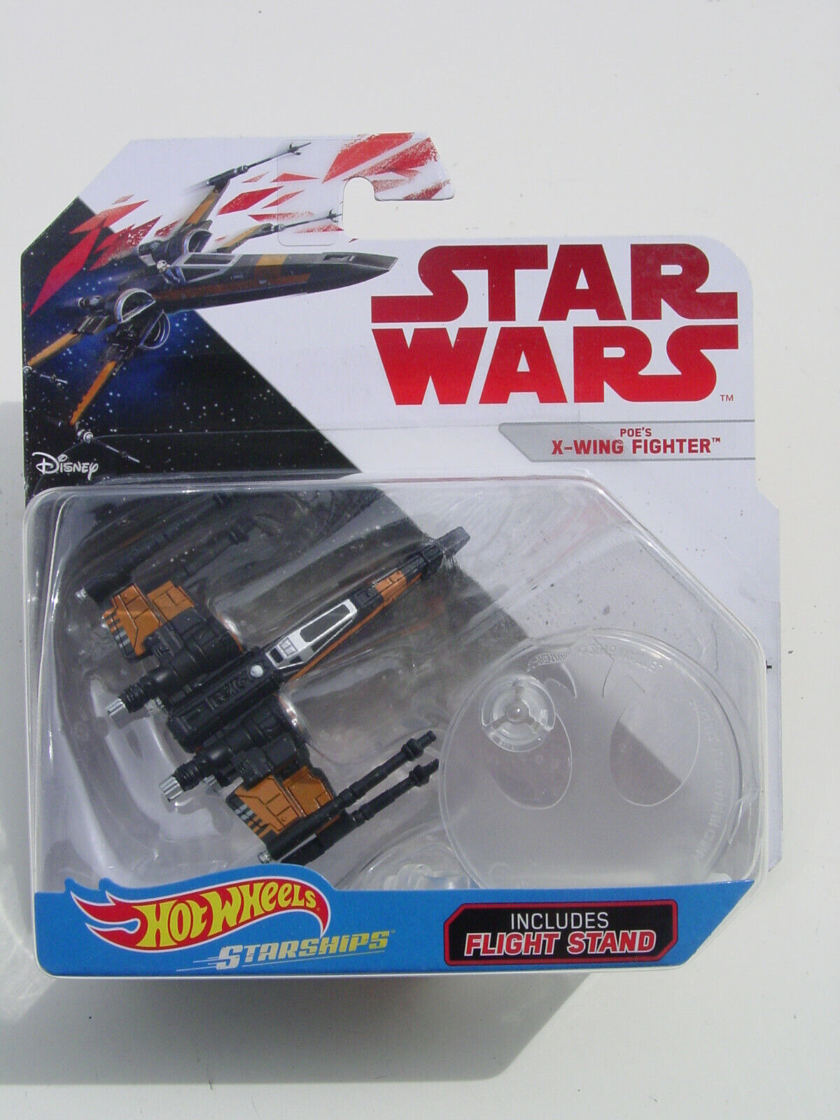Disney Star Wars Starships Diecast Hot Wheels Poe/'s X-Wing Fighter Flight Stand