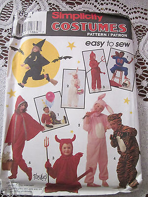 Easy Girl Costume (Simplicity 8271 EASY COSTUME PATTERN BOY GIRL Pull-On Jumpsuit SZ 3-8)
