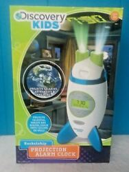 Discovery Kids Rocketship Projection Alarm Clock~Projects images and time~New