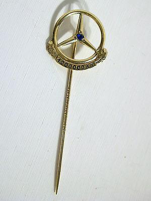 Stern Anstecknadel/ 1 x Saphier- Echt Gold, 333/000 8 kt.GG. 1 Mio. Km. MB.