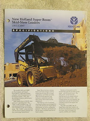1994 New Holland L865 Lx885 Skid Steer Loaders Specifications Brochure
