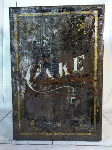 Rare Antique Vintage Bread and Cake Cabinet Breadbox Pie Safe Shabby Chic