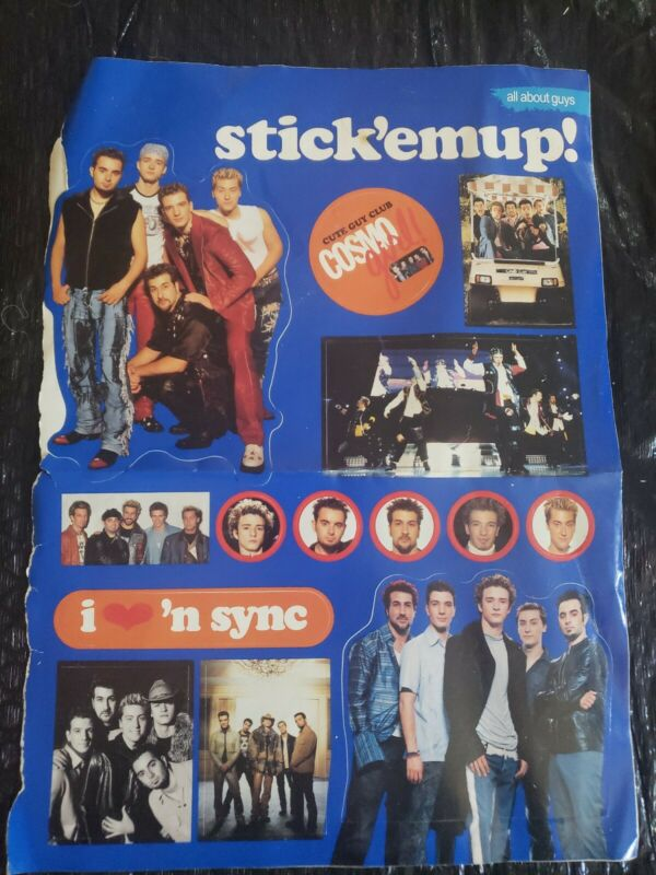 Vintage nsync Stickers from CosmoGirl 2001
