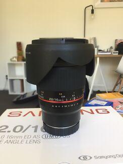 Samyang 16mm 2.0 for Canon M Series
