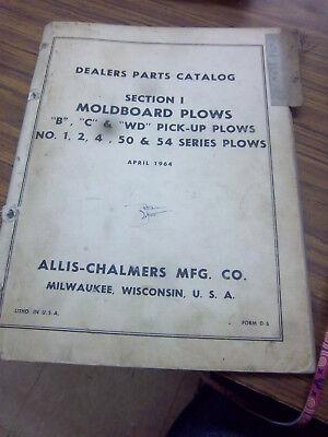 Allis-chalmers Bcwd Pick-up Plow12 4 50 54 Plow Part Manualoriginal1964