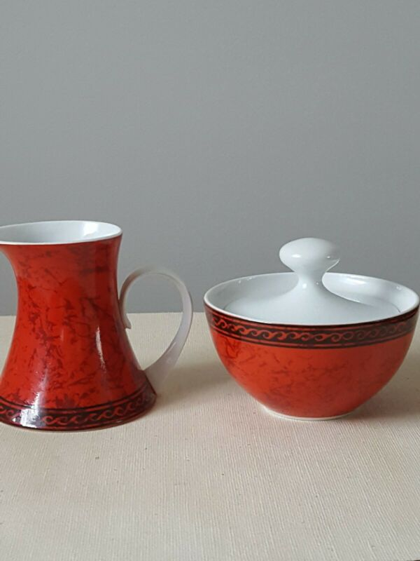 Block Bidasoa Flamenco Sugar Bowl And Creamer Set
