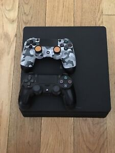 PS4 Slim For Sale, Two Controllers