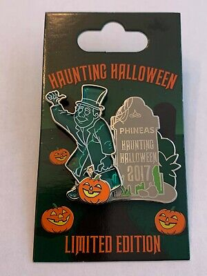 Disney Hitchhiking Ghost Haunted Mansion 2017 Halloween Phineas Pin LE 3000 WDW
