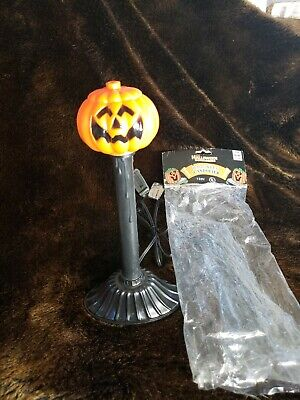 Vintage Halloween Pumpkin Candolier Blow Mold Electric Candle Light Tested