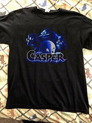 Casper Ghost Halloween Movie (Vintage 1995 Casper Movie T-Shirt Black Friendly Ghost Halloween 90s)