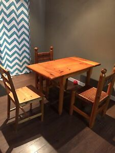 Small table and 3 chairs
