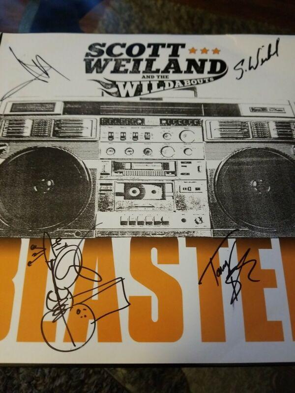 Scott Weiland & the Wildabouts SIGNED LP Album 4 Signatures Viny LP ( NO PSA/COA
