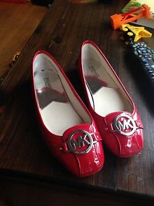 Red Michael Kors leather shoes NEW size 9