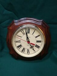 Vintage Harris and Mallow Wooden Wall Clock Battery Operated