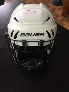 Bauer youth hockey helmet with cage