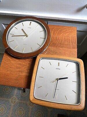 Two Vintage Sunbeam Quartz Wall Clocks- Model No. 882