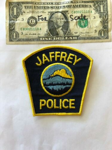 Jaffrey New Hampshire Police Patch un-sewn in great shape