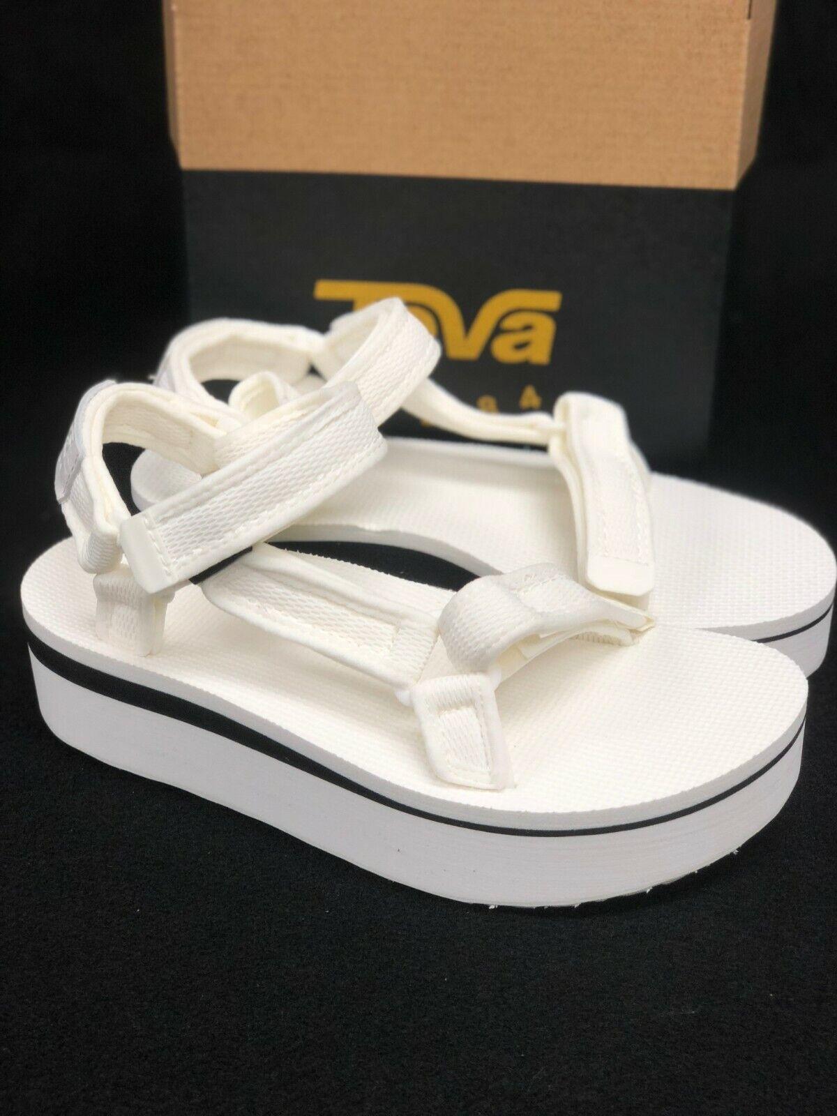 Teva Women's Flatform Universal Mesh Print Platform Sandals Bright White 1102451 1