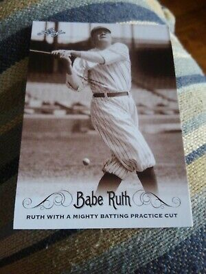 BABE RUTH 2016 LEAF BABE RUTH RUTH TAKING BATTING PRACTICE #43 FREE SHIPPING