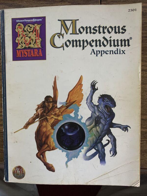 MYSTARA MONSTROUS COMPENDIUM APPENDIX Advanced Dungeons and & Dragons AD&D D&D
