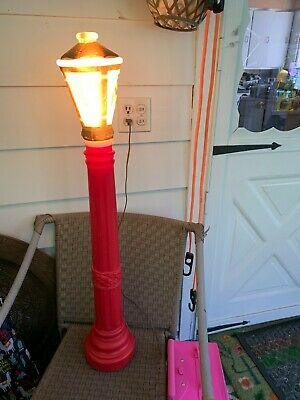 "Empire Vintage Christmas Blow Mold Street Lamp Post Lantern Lights 40"" Tall"