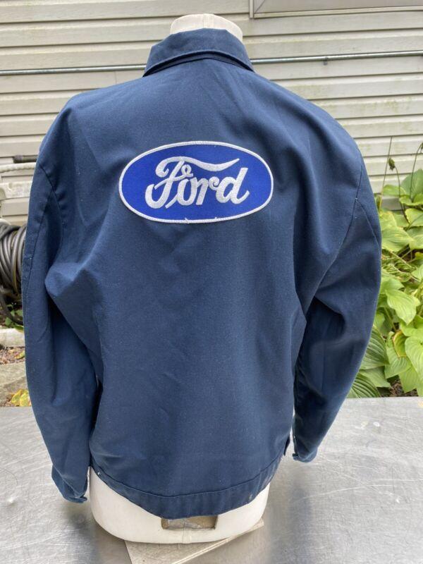 Vtg Coat Racing Rockabilly Ford Detroit Jacket Flint Shop Industrial Md Hot Rod