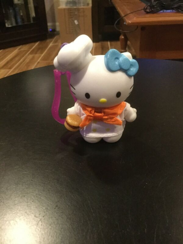 Hello Kitty Chef Cook Keychain Plastic SanRio 3in