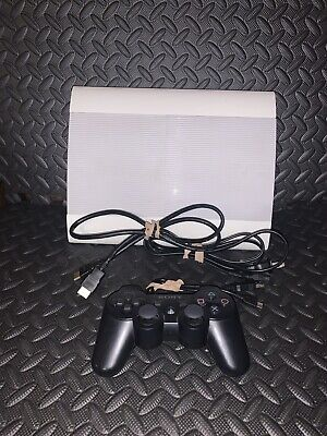 Sony PlayStation 3 PS3 Super Slim 500GB White Limited Edition Console CECH-4001C