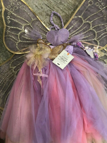 Pottery Barn Kids Lavender Butterfly Fairy Tutu Costume 3T NEW Halloween