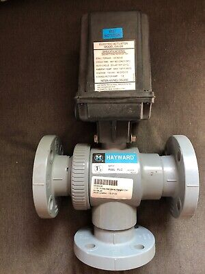 Hayward Eau28 Electric Actuator With 1 12 3 Way Ball Valve Flanged Connectors