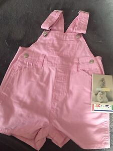 Baby Girl's Pink Jean Short Jumper - NEW! Tag On