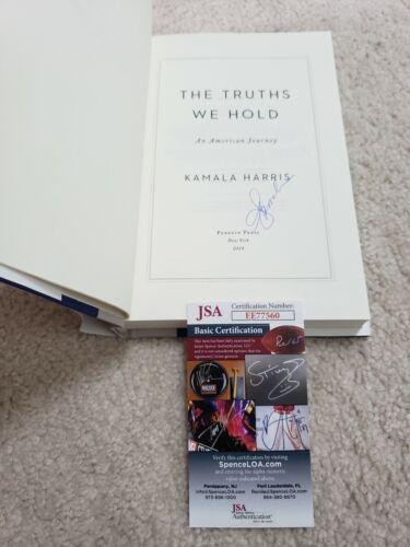 RARE INPERSON SIGNED 1st/1st TRUTHS WE HOLD w/ JSA-Vice President Kamala Harris