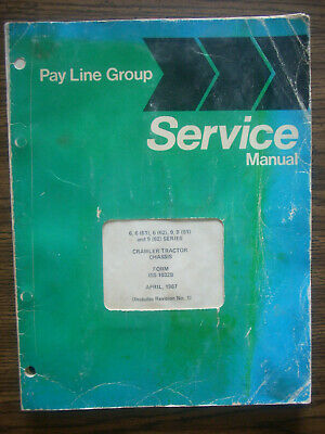 Ih Farmall Mccormick International Td6 Td9 Crawler Service Manual