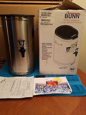Bunn Commercial Iced Teacoffee Dispenser Oval 4 Gallon Model Tdo-4 Euc.
