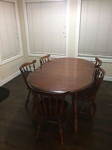 Solid Wood Kitchen Table + 5 Chairs