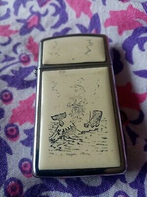 Old vintage zippo slim lighter fully working genuine zippo great for collectors