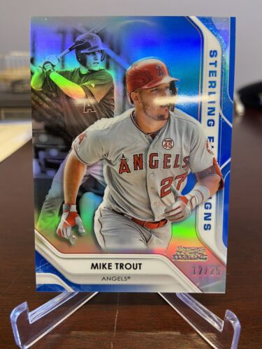 MIKE TROUT 2020 Bowman Sterling First Signs Blue Refractor SFS-MT Angels /25 - $115.00