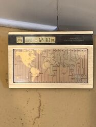 Seiko World Time Touch Sensor Desk Clock Time Zone Preowned Great Condition