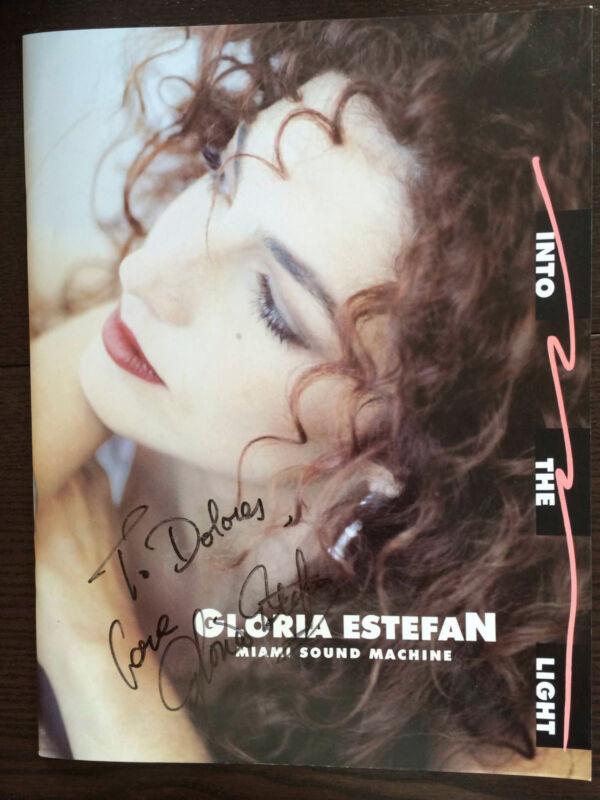 Autographed Gloria Estefan Into the Light tour Program, backstage pass tickets