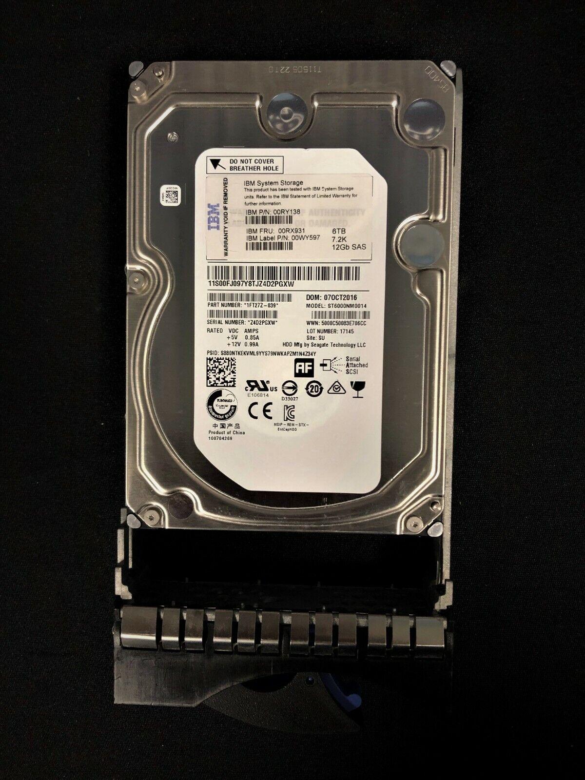 """IBM 2072-ACLB V3700 Storwize 300GB 15K RPM 6Gb 2.5/"""" SAS HDD 00Y2428 00Y5718"""