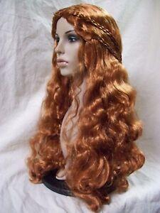 Natural Red Lady Guinevere Wig Medieval Damsel Renaissance Celtic Irish Princess