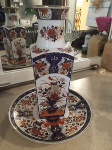 Chinese vase and plate